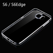 CHUNFA Ultra Thin TPU Case for Samsung Galaxy S6 Clear Soft Silicone Case Back Cover for Samsung S6 Edge Crystal Cases Protector
