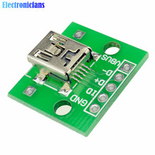 10pcs Mini USB to DIP Adapter Converter for 2.54mm PCB Board DIY Power Supply NEW(China)