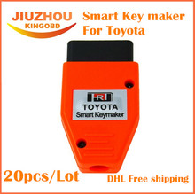 20pcs/lot DHL free shipping for Toyota Smart Key maker 4C 4D transponder chip key programming machine For Toyota Smart Keymaker