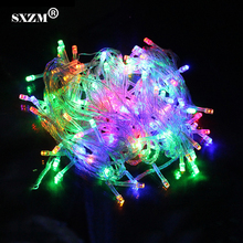 SXZM 10 meter Led string light 100led waterproof colorful holiday lighting AC110V or AC220V outdoor decoration christmas light(China)