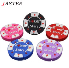 JASTER hot poker pen drive 32gb usb flash drive 16gb 8gb 4gb rubber Poker Stars pokerstars usb stick memory stick Pen U disk