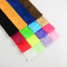 32pcs/lot 16colors Girl Lace Hairband Elastic Headband Kids DIY Crafts Garment Hair Accessories(China)