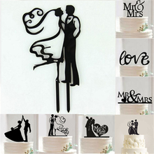 1Pcs Acrylic Bride And Groom Wedding Cake Topper Wedding Cake Stand Decoration Mariage  Party Cake Decorating Supplies