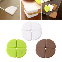 New 4Pcs Baby Silicon Arc Corner Protector Kids Table Corner Cover Safety Guards