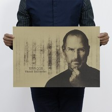 51*36cm Steve Paul Jobs old photo vintage poster Art Home Decor cafe bar garage Pub wallpaper painting retro Posters kids room(China)