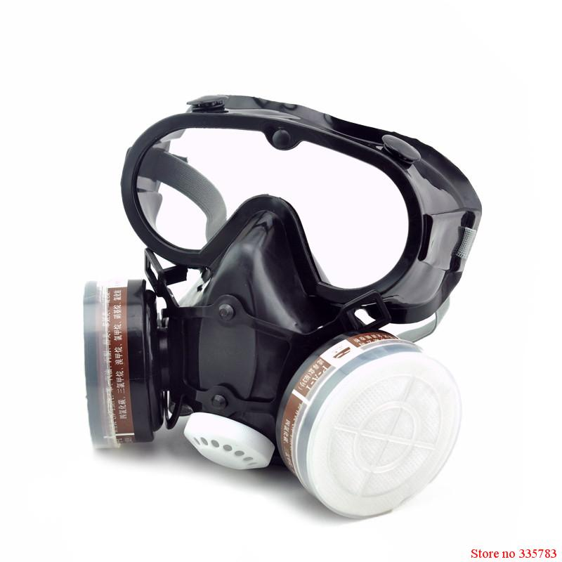 Respirator dust gas mask with glasses Labor insurance supplies Eyes nose and mouth conjoined Safety glasses protective mask<br><br>Aliexpress