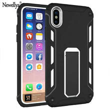 For Apple iphone X Case ten Silicone PC Heavy Duty Military Armor Holster Stand Shock Proof Cover Cases For iPhone X iPhoneX