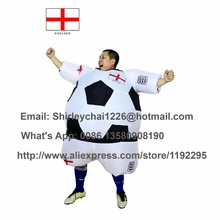 New Styles World Cup England inflatable foot ball costume Britain suit foot ball inflatable costume United Kingdom For Adult