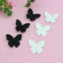 500pcs 27x25mm Lovely Fabric Butterfly Applique Patches Non-woven Fabric Butterflies Patches Scrapbooking DIY Craft Home Decor