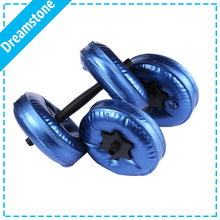 New Weight Adjustable Dumbbell Plastic Dumbbells for Fitness Gym weight loss Exercise equipment dumbbell exercises 1Pair(China)