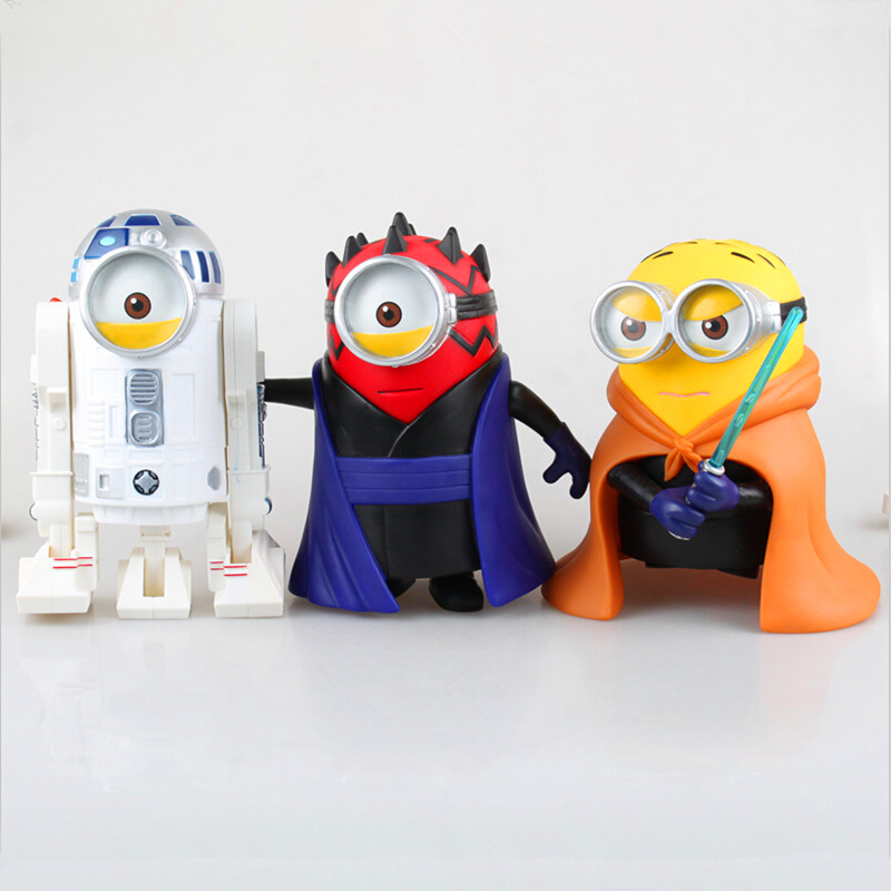 Minion Cos Star Wars Luke Skywalker R2-D2 Darth Maul PVC Action Figure Collectible Model Toy 8 20cm Retail Box WU101<br><br>Aliexpress