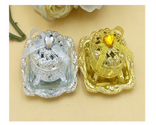european creative shinny plastic candy boxes golden silver wedding favor gift box baby shower bridal shower sweet gift box