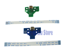 12pin & 14pin LED Power / Charging PCB Board with flex Ribbon Cable for PS4 Controller 10sets/lot