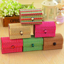9*6*6CM Creative Bamboo Wooden Jewelry Storage Box Ring Necklace Earrings Storage Boxes Jewelry Case Organizer GI993290(China)