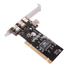 3 Ports Firewire IEEE 1394 4/6 Pin PCI Card for DV DC HDD MP3 PDA