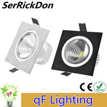Dimmable LED Downlight 6w 10w 14w 110V 220V Square COB Led Ceiling Recessed Plafond Dimming LED Spot Light Indoor Light