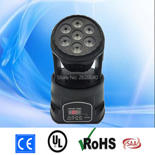 (1 pieces/lot)  mini dj moving head lights led wash dmx stage effect lighting quad with advanced 14 channels