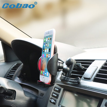 Cobao Car air vent phone support 360 degree Car phone holder for car air vent /cellphone bracket for iphone 5 6 7 Sumsung Huawei(China)