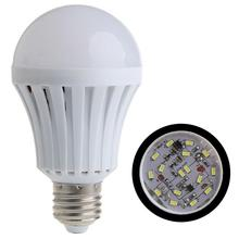 PROBE SHINY E27 5W 7W 9W 12W LED Smart Bulb Emergency Light Rechargeable Battery Lighting Lamp for hotel market home(China)
