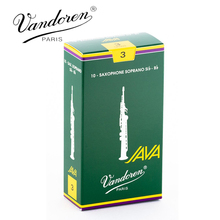 Original France Vandoren JAVA Soprano Sax Reeds / Saxophone Soprano Sib Bb Reeds Strength 2.5#, 3# Grey Green Box of 10