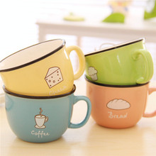 Thicken Anti scald Mug Coffe Milk Lemon Juice Water Cups Breakfast Cute Mugs cup Ceramic Bottlees