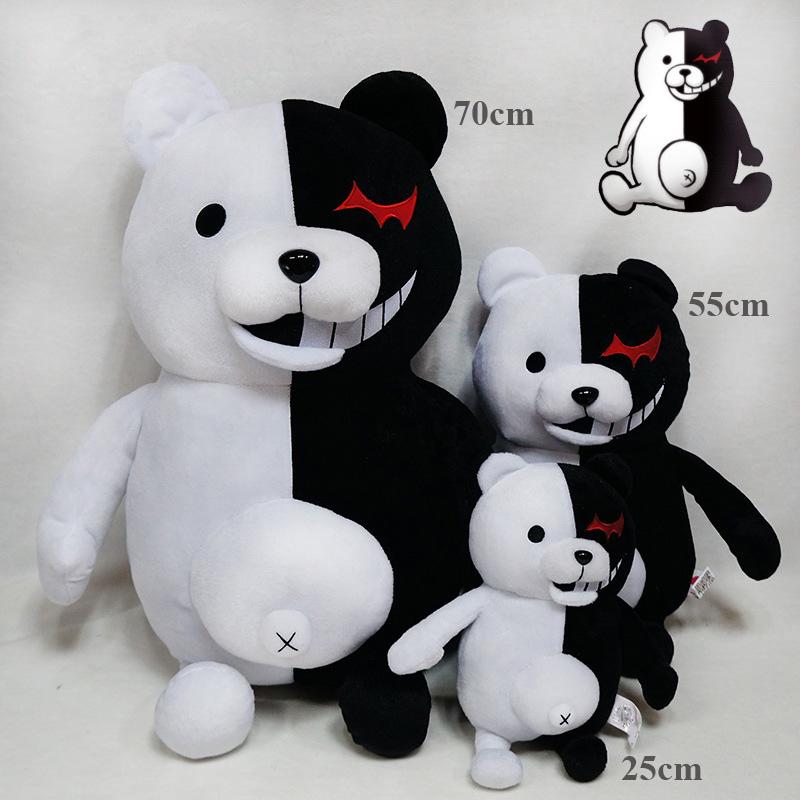 1pcs Cute Cartoon Dolls Dangan Ronpa Monokuma Doll Plush Toys Black White Bear Kids Toys Child Birthday Gifts 25-70cm (3)