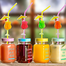 30PCS/Pack 3D Goblet Cocktail Paper Straws Umbrella Drinking Straws Party Decoration Color Assorted