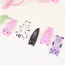 6pcs lot Fashion Women Animal Hairpin headwear kid's barrettes Hair clips Jewelry Snap Clips Children Hair Accessories(China)