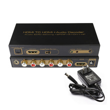 Full HD 1080p HDMI TO HDMI +5.1CH Audio Decoder AUDIO EDID SETTING SPDIF for Blue-Ray DVD DVD HD Player PC PS2 0016M1