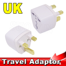 Universal Home Household Travel Adapter Portable EU AU US Brazil Italy Jack to UK AC Power Plug Charger Converter