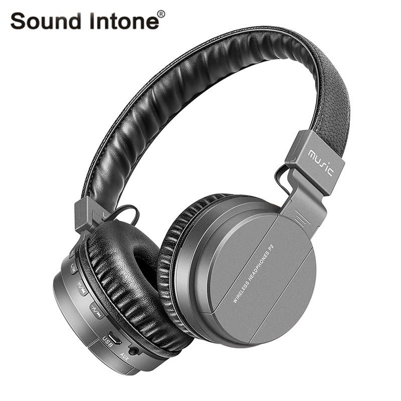 Sound Intone P2+ Wireless Bluetooth Headphone with Mic Support TF Card FM Radio Stereo Headsets Super Bass Headphones Bluetooth<br><br>Aliexpress