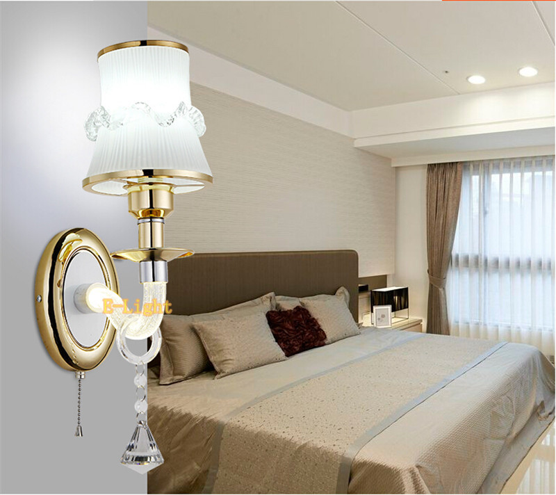 Crystal Culumn Wall Light living Corridor Silver Golden Stair Sconce Wall Lamp for home bedroom lamparas de pared apliques pared<br><br>Aliexpress