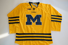 Kowell Custom Yellow Stitched Big M Hockey Jersey With Your Own Name And Number.(China)
