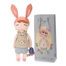 Angela New Design Stuffed Bunny Baby Plush Rabbit Doll Gifts for Girls 13inches Falgon Style Appease Doll(China)