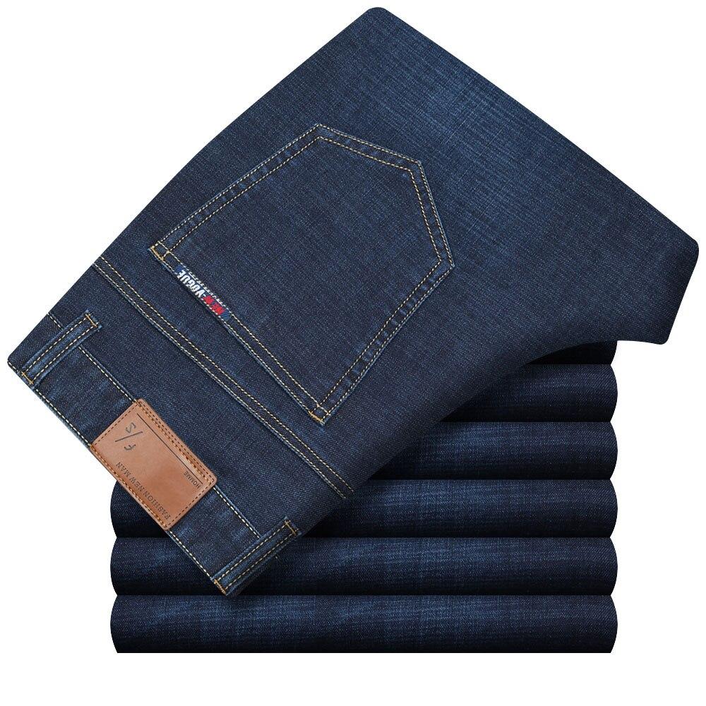 Plus Size High Elasticity Classic Jeans Middle Age Men Denim Pants Straigh Biker Trousers Modal Homme Jeans Workman Pants HLX139Îäåæäà è àêñåññóàðû<br><br>