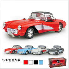 Latest children's toys 1:32 Alloy back to power car sound and light version classic emulation Child toy car model Children gift