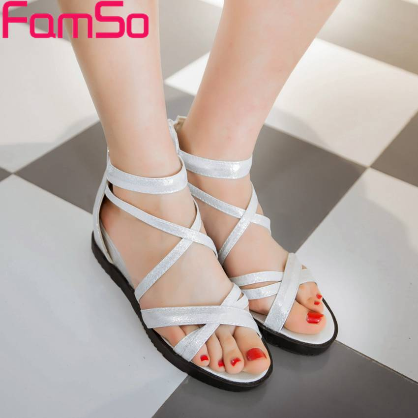 Top Fashion 2017 Shoes Women Black Cross-Strap Wedges Shoes Flip Flops Shoes Summer Gold Silver Womens Office Sandals PS2449<br><br>Aliexpress