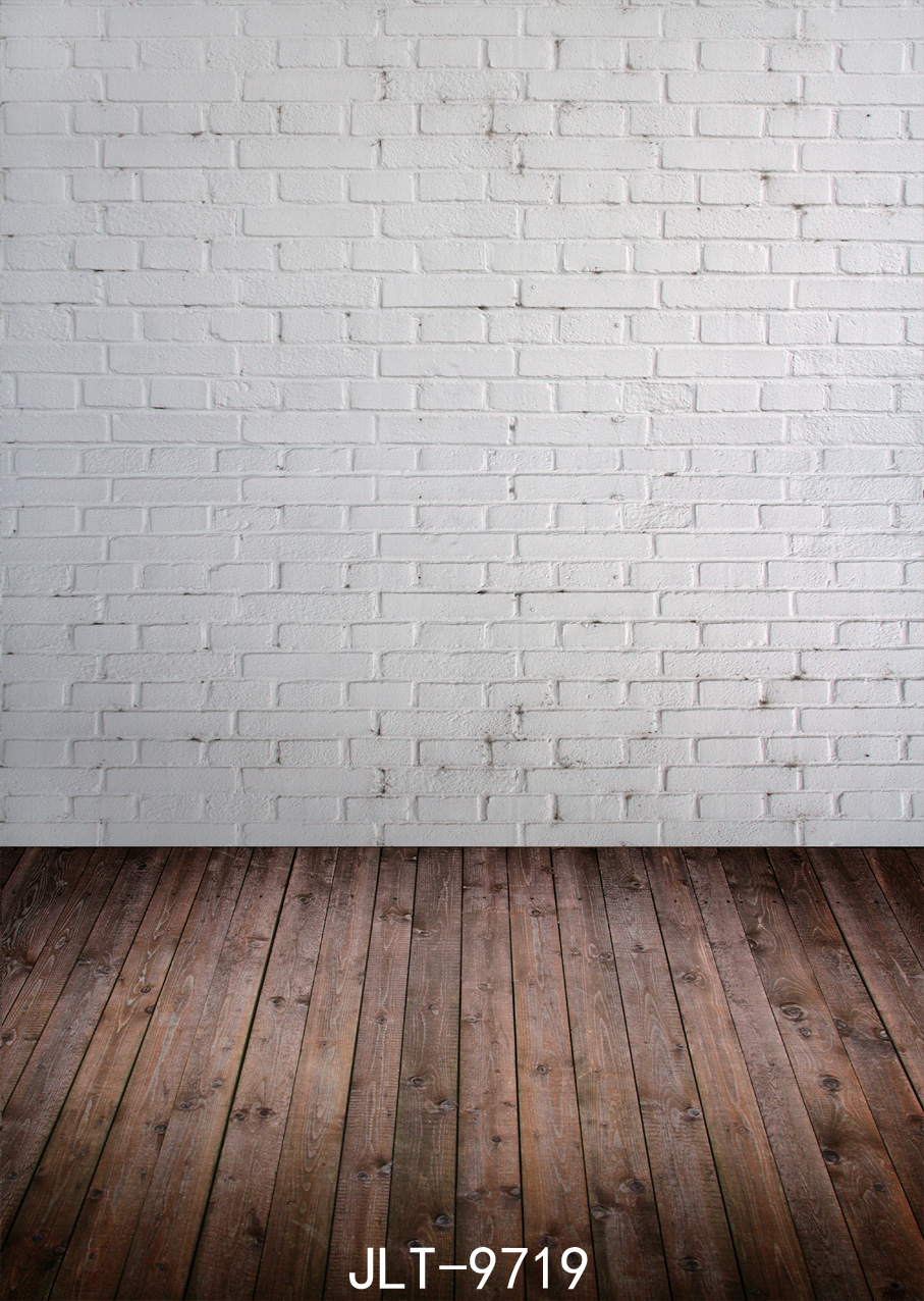 SJOLOON White brick wall wood floor photography background  Children background 150x210cm Fond studio photo vinyle<br><br>Aliexpress
