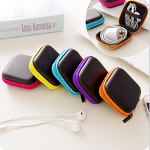 Earphone Wire Box(Without Earphone) Data Line Cables Storage Box Case Container Organizer Coin Purse