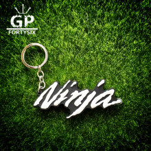 GPFORTYSIX New MOTO GP Motorcycle Motorbike keychain 3D PVC Rubber Auto Car Band key rings for kawasaki Ninja team fans gift