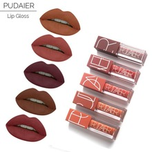Pudaier Brand 5pcs matte liquid lipstick set nude brown chocolate rose lipstick kit lip gloss matte lips waterproof Lipstick(China)