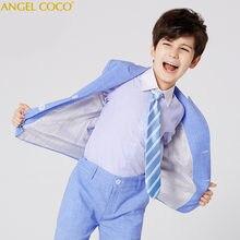 Ágil azul chicos trajes para bodas niños chaqueta para niño traje Enfant  Garcon Mariage Jogging Garcon chaqueta chicos esmoquin 759521954cf