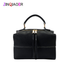 JINQIAOER New fashion women's Boston bag with high quality leather with successful people dedicated shoulder strap soft cz130