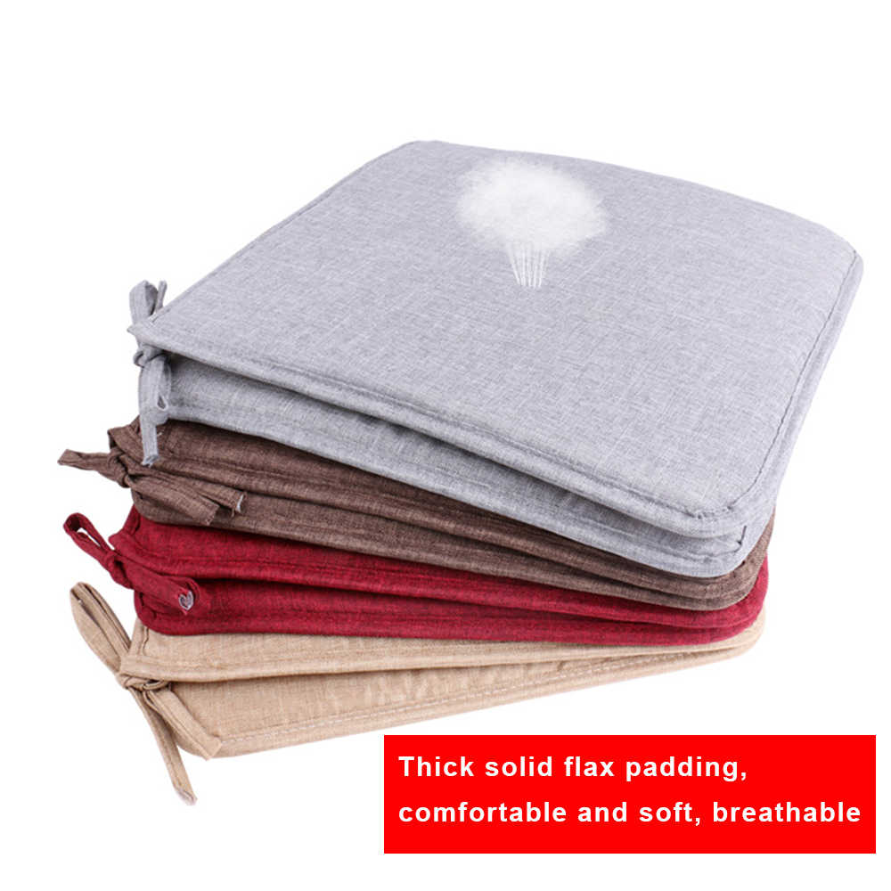 Urijk Non-slip Sofa Seat Cushion Solid Color Square Seat Pad Chair Cushion Soft Pillow For Padchair Chairs 40x40cm
