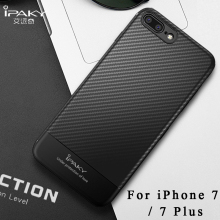 For iPhone 7 case ipaky Silm coque For iPhone 8 plus case Carbon Fiber skin Silicone Cover For iphone 7 plus cases For iPhone7(China)