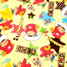 105*100cm ONE PIECE Tony Tony Choppe cute baby Polyester silk fabric Sewing Fabric DIY Handmade Material Patchwork Bag(China)