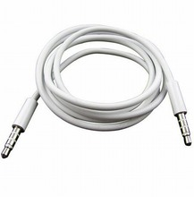 1M 3.5mm Male to Male Stereo Audio Jack AUX Auxiliary Cable for iphone 6 5 5s 6S Plus for iPad MP3 MUSIC PLAYER IN THE CAR White
