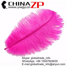 CHINAZP Factory 30-35cm(12-14inch) 200pcs/lot Best Wedding Decoration Hot Pink Ostrich Drab Feathers