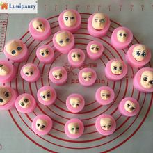 LumiParty 3D Silicone Face Mold BJD Dolls Head DIY Chocolate Mould Fondant Cake Decorating Tools-30