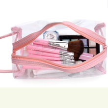 MIWIND Free Ship Environmental Protection PVC Transparent Cosmetic Bag Clear Waterproof Makeup Storage Pounch Lady TTS1021(China)